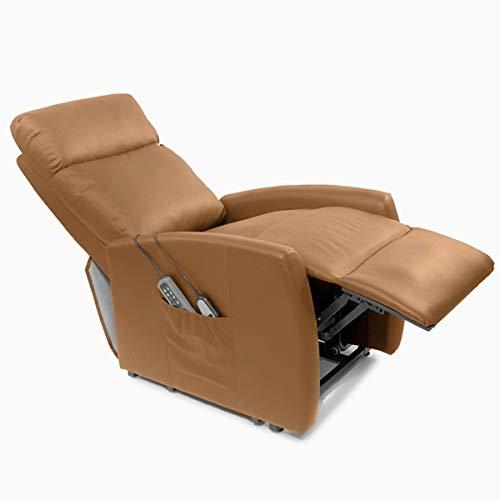 Cecotec Sillón Relax de Masaje Levantapersonas Compact, Función Calor, 5 programas, 3 intensidades, 8 Motores, Doble Mando, Ruedas, Polipiel de ...