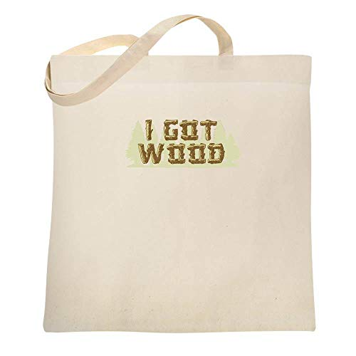 I Got Wood Halloween Costume Drinking Zombie Natural 15x15 inches Canvas Tote Bag]()