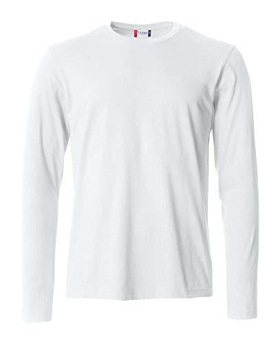 Clique Uomo T Cotone Maniche Bianco Basic Manica Lunga Maglietta s L Maglia Lunghe t shirt rfqwxr