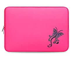 Crystal Bling Rhinestone Studded Pink Laptop Case