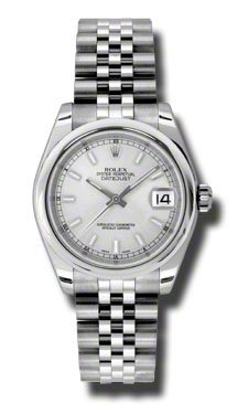 Rolex Datejust Silver Dial Automatic Stainless Steel Ladies Watch 178240SSJ
