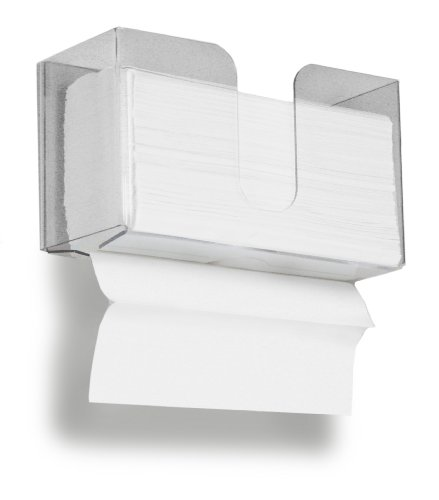 TrippNT 51937 Small Dual Dispensing Paper Towel holder with 150 9.2 x 9.4 inch Multi-Fold Paper Towel Capacity and Peelable Protective Film (Multi Dispenser compare prices)