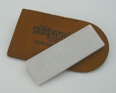 Hall's Pro Edge Natural Arkansas Sharpening Stone In Leather Credit Card Holder, 8 cm 8cm Haller