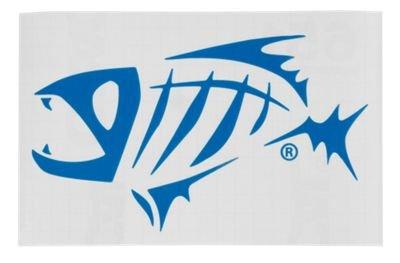 G.Loomis Skeleton Fish Logo Window Sticker Red