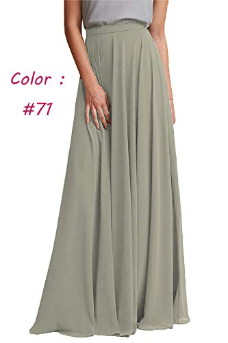 Honey Qiao Chiffon Bridesmaid Dresses High Waist Long Woman Maxi Skirt Asparagus Green