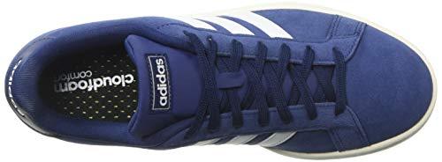 adidas mens Grand Court Sneaker, Dark Blue/White/Cloud White, 10.5 US