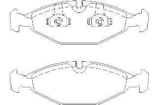 Replacement Mintex Front Brake Pads (Full set for Front Axle) MDB1753 by Mintex