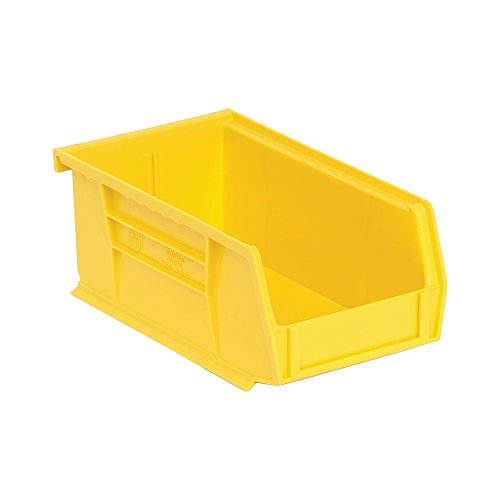 Quantum Storage Yellow Shelf (Quantum QUS220 Plastic Storage Stacking Ultra Bin, 7-Inch by 4-Inch by 3-Inch, Yellow, Case of 24)