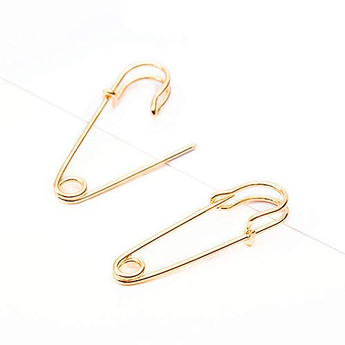 Puncture Pin - Party Punk Personality Alloy Safety Pin Puncture Earring Alloy Fashion Ear Jewelry Women Men Rock Stud Earrings (Gold)