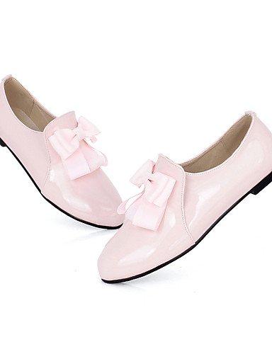 NJX/ hug Damenschuhe-Ballerinas-Büro / Kleid / Lässig-Lackleder-Flacher Absatz-Komfort-Schwarz / Rosa / Mandelfarben black-us7.5 / eu38 / uk5.5 / cn38