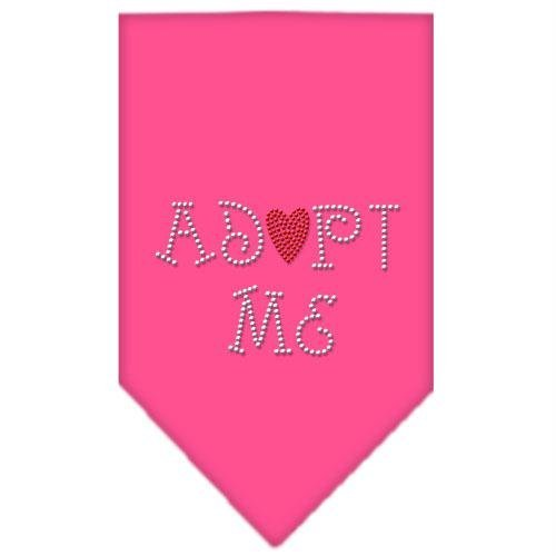 Mirage Pet Products Adopt Me Rhinestone Bandana, Small, Bright Pink