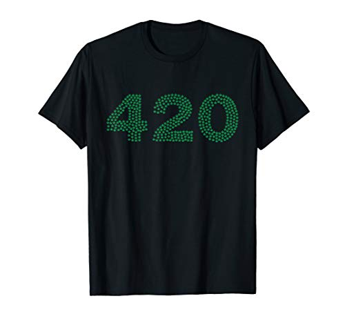 420 Written with Pot Leaves T-Shirt for Mary Jane Lovers - Leaf Pot Mary Jane