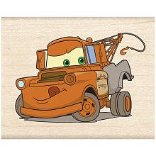 EK Disney Wood Mounted Rubber Stamp: Cars Tow Mater