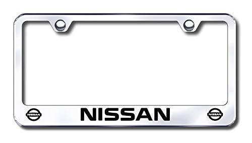 New Stainless Steel Chrome Nissan License Plate Frame W/Bolt Caps