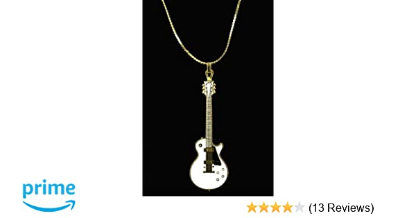 Other Guitars Jewelry & Watches White And Black Excellent Quality Reasonable Harmony Jewelry Fender Stratocaster Necklace