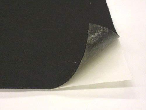 9 X 12 Adhesive Backed Felt, Black, Pack of 5 Southeastern Felt 062PSAB001