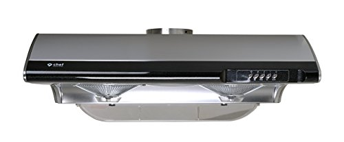 Chef Range Hood 30' C190 | TASTEMAKER SERIES | Slim Under Cabinet Range Hood Design | 3 Speed Setting with 750 CFM | Top and Rear Venting Available | Includes Incandescent Lamps