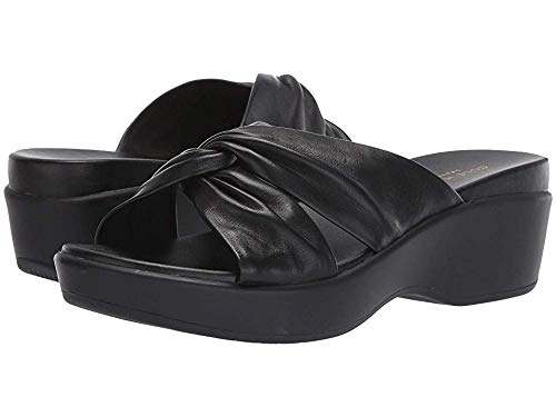 Cole Haan Women's Aubree Grand Knotted Slide Sandal Black Nappa/Black 7.5 B US