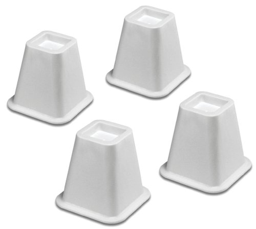 Whitmor  White Bed Risers, Set of (Casters Set Of 4 White)