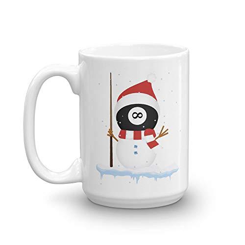 - Snowman Billiards Eight Ball Christmas Coffee Mug