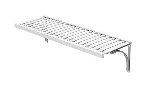 ClosetMaid 1424 Premium Wood Ventilated Shelf Kit, 4-Foot X 16-Inch, White