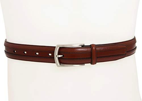 Johnston & Murphy Men's Double Calf Belt,Cognac,Size 38 (Belt Buckle And Mens Murphy Johnston)