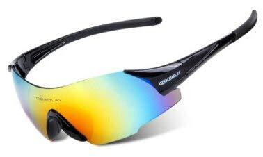 Black, Multicolor   Anti-UV Cycling Glasses Men Plastic Sports Eyewear Bicycle Bike Sunglasses Women Riding Goggles
