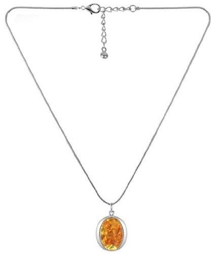 Collier ovale en ambre naturel-Idée cadeau-bijoux contemporain