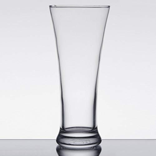 MM Foodservice 12-Ounce Pilsner Glass, Classic Pilsner Beer Glasses, Set of ()
