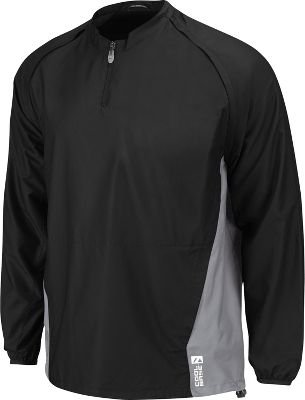 Majestic Adult Cool Base Convertible Gamer Jacket Black/Silver Medium - Majestic Cool Base Gamer Jacket