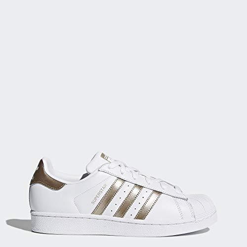 adidas Originals Women's Superstar Sneaker, Cyber Metallic/White, 7.5 (Adidas A)