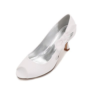 RTRY Las Mujeres'S Wedding Shoes Confort Satin Primavera Verano Boda Vestido De Noche &Amp; Rhinestone Bowknot Champán Heelivory Plana Rubí Azul US9 / EU40 / UK7 / CN41