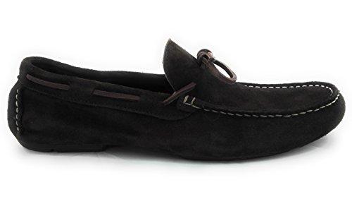 Zerimar Herren Leder Schuhe Mokassin Herren Lederschuh Schuh Leder Casual Schuh Täglicher Gebrauch Schöne Leder Schuhe für Den Mann Sportlich Schuh Braun Größe 42