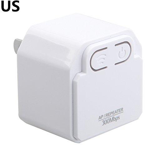 Ocamo 300Mbps WIFI Extensor Mini Repetidor Inalámbrico AP Router Wall Plug WiFi Amplificador Rango Extensor Booster Blanco,...