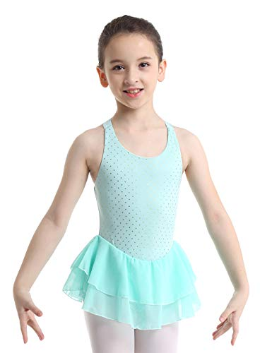Inlzdz Kids Girls Ballet Dance Leotard Dress Pink Cotton Gymnastics Leotard Swimsuit Ballerina Clothes Children Ballet Leotard Luggage & Bags