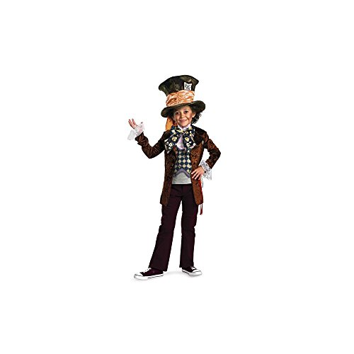 Dlx Disney Boys Alice In Wonderland Mad Hatter Costume (Spirit Halloween Mad Hatter Costume)