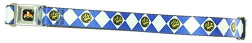 Power Rangers Logo Diamond Blue Ranger Kids Seatbelt Belt (For Pants) (Power Rangers Outfit)