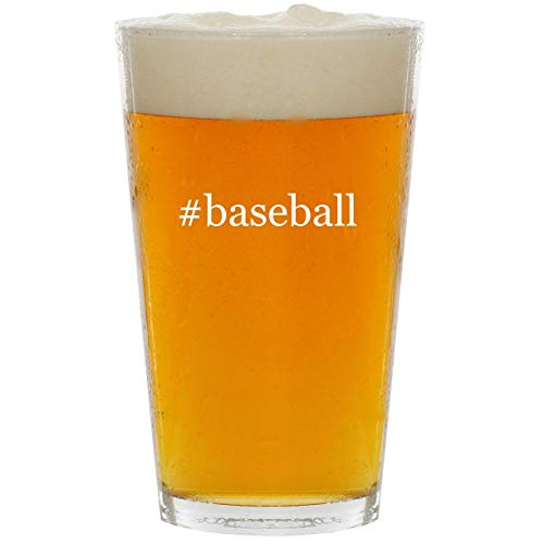 #baseball - Glass Hashtag 16oz Beer Pint ()