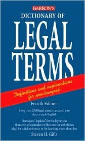 Dictionary of Legal Terms 4th (fourth) edition Text Only