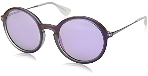 Ray-Ban INJECTED MAN SUNGLASS - SHOT VIOLET RUBBER Frame GREY MIRROR VIOLET Lenses 50mm - Ray Violet Ban