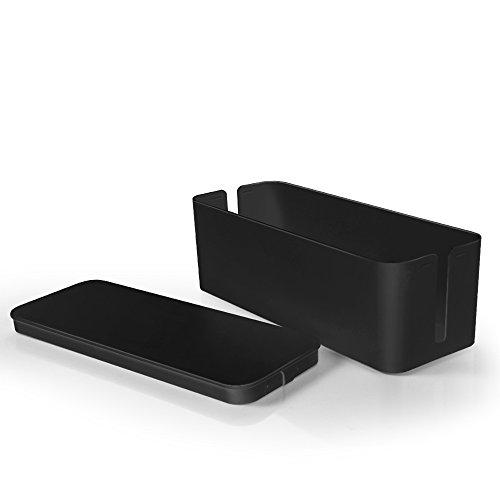TNP Cable Management Box Cord Organizer - Black Standard 13