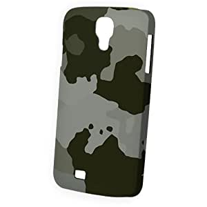 LJF phone case Case Fun Samsung Galaxy S4 (I9500) Case - Vogue Version - 3D Full Wrap - Large Grey Camouflage