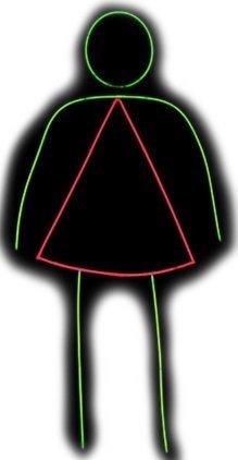 Glowgirl Womens Adult Costume - Glows in the Dark! - (Glow Stick Figure Costume)