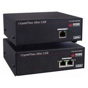 Rose Electronics CrystalView Mini USB CAT5 KVM Extender (CRK-M2U2V)
