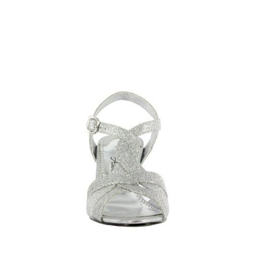 Sandale Femme Glamour Facile Rue Glitter Argent