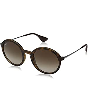 Injected Man Sunglasses - Dark Rubber Havana Frame Gradient Brown Lenses 50mm Non-Polarized