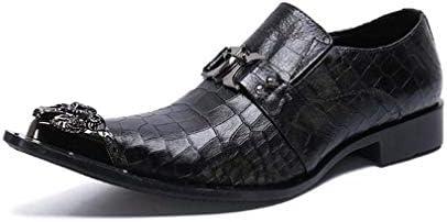 フォーマル靴メンズパーティーオックスフォードカジュアル本革クラシックスネークスキンポインテッドトゥスリップ