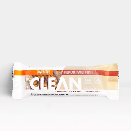 Ready Nutrition CLEAN Bar, 15g Protein for Lean Muscle Mass, 7g Fiber for Satiety, Great for Muscle Building, Muscle Recovery and Weight Loss – Chocolate Peanut Butter (52g, Pack of 12)