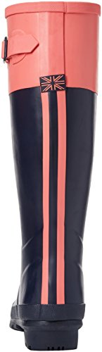 Blue lluvia mujer JoulesCavendish de Coral French Soft Block Navy Botas aBFqqwnI