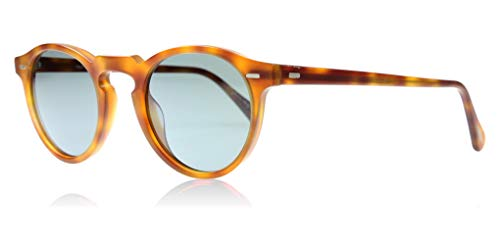 Oliver Peoples Unisex Gregory Peck Sun Semi Matte Light Brown/Indigo Photochromic (Sunglasses Oliver Peoples)